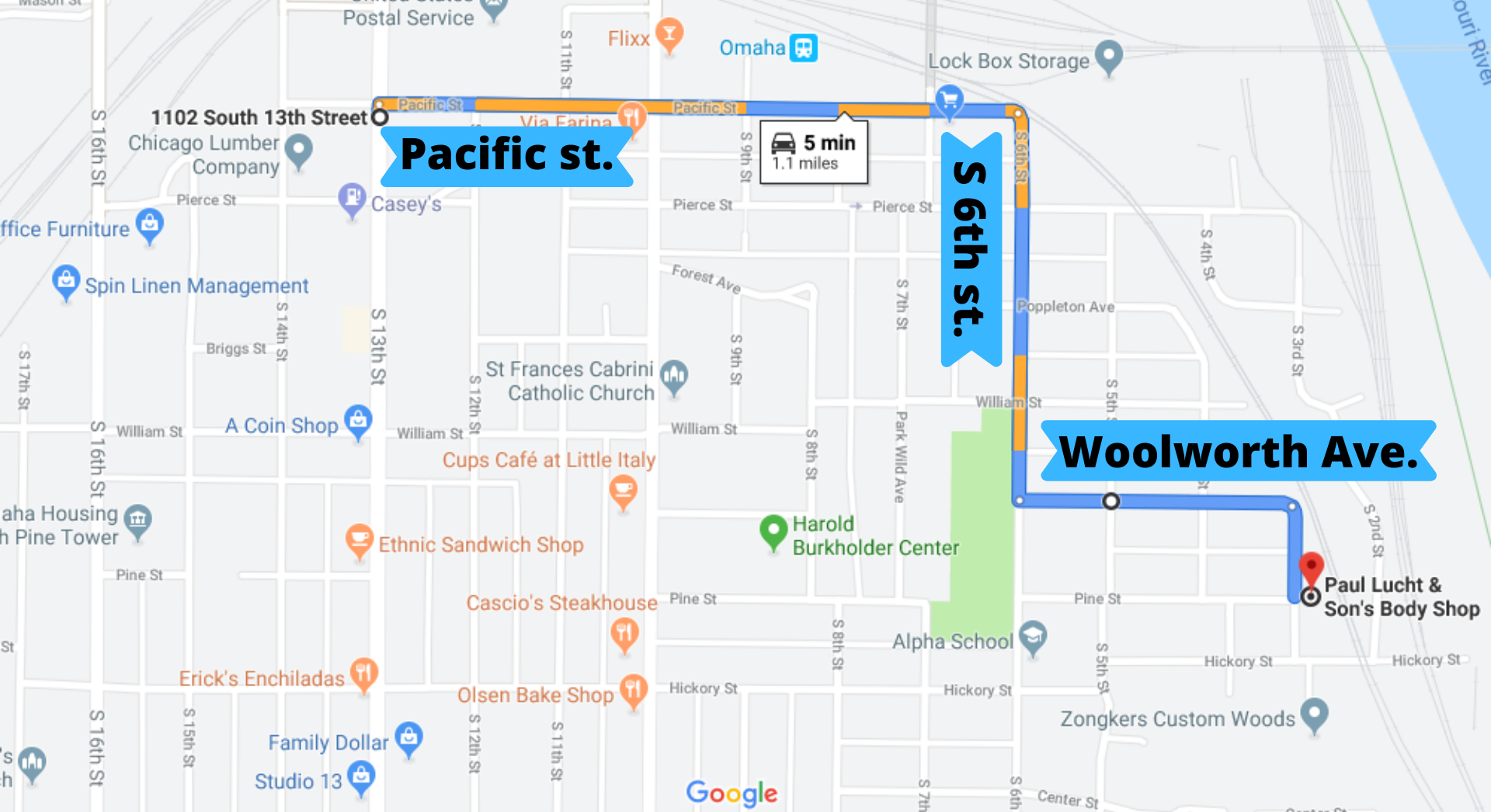 PLBS Truck Route